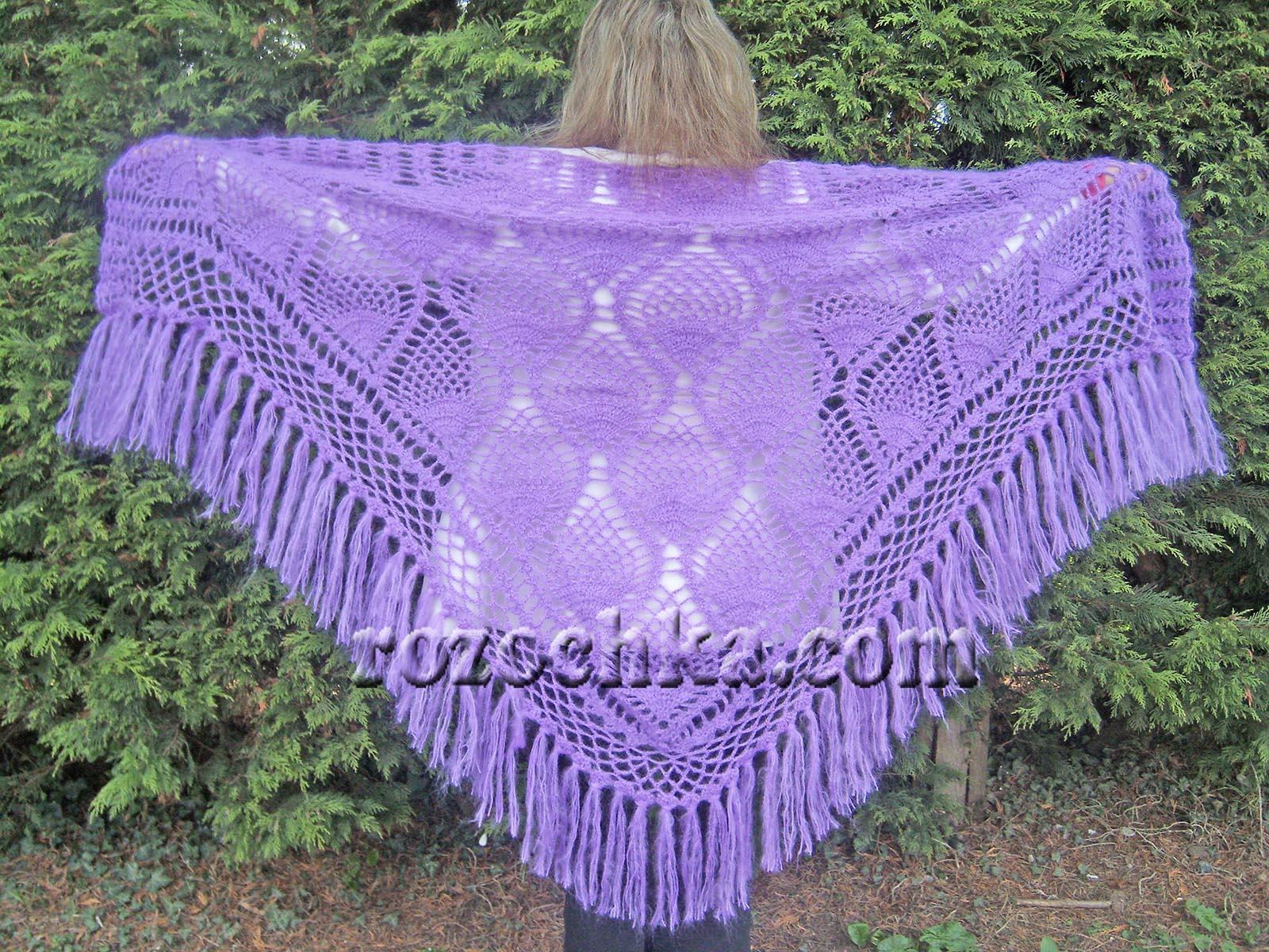 Узоры вязания шали фото