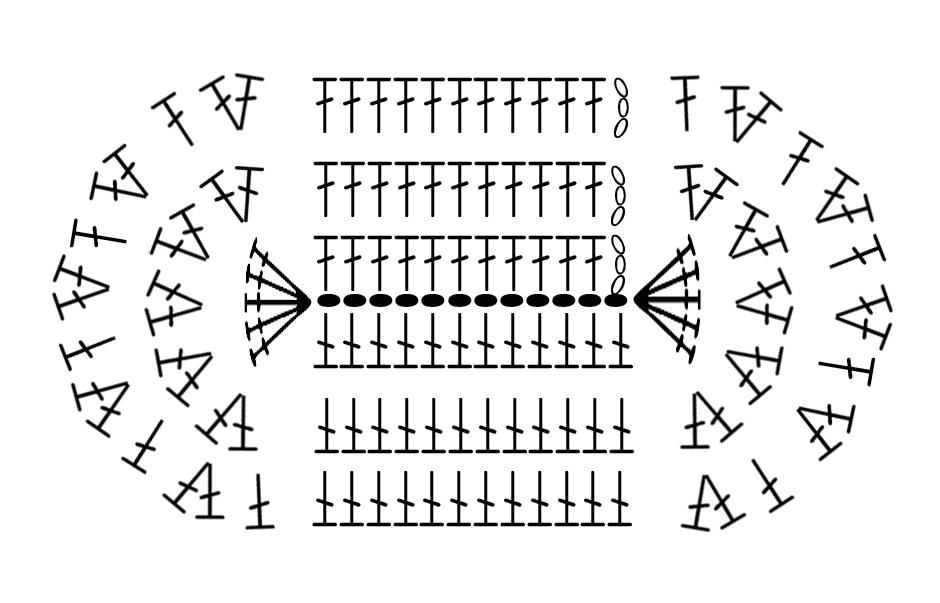 Вязание крючком пинетки подошвы 80