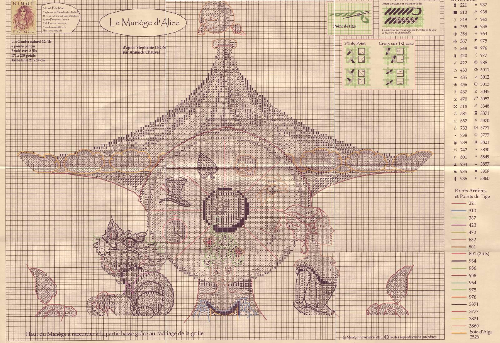 Nimue Схемы для вышивки крестом Печатная продукция 94