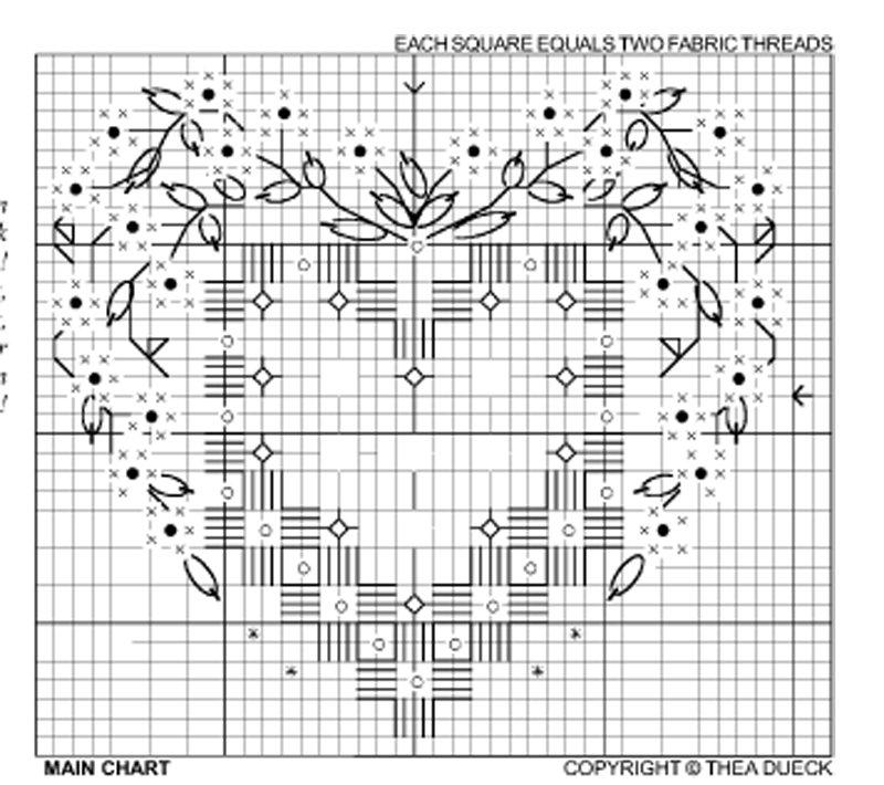 Вышивка хардангер для начинающих схемы 88
